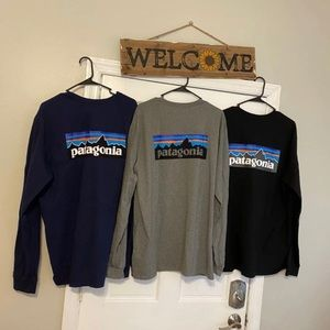 Men's Long-Sleeved P-6 Logo 3colors